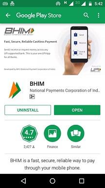 Bhim app download image