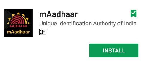 m-Aadhaar app install