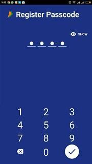 register Passcode