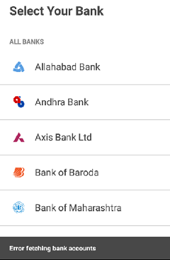 select your bank