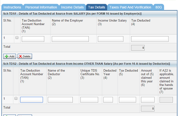 tax details