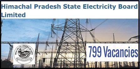 हिमाचल प्रदेश राज्य विद्युत बोर्ड लिमिटेड (HPSEBL) भर्ती 2018/ पोस्ट 799/ आवेदन/ ऐप्लीकेशन फॉर्म