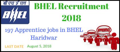 भारत हैवी इलेक्ट्रॉनिक्स लिमिटेड (BHEL) भर्ती 2018/ ऑनलाइन आवेदन/ ऐप्लीकेशन फॉर्म