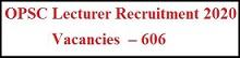 ओडिशा OPSC व्याख्याता भर्ती 2020 | पोस्ट 606 | ऑनलाइन आवेदन| एप्लीकेशन फॉर्म